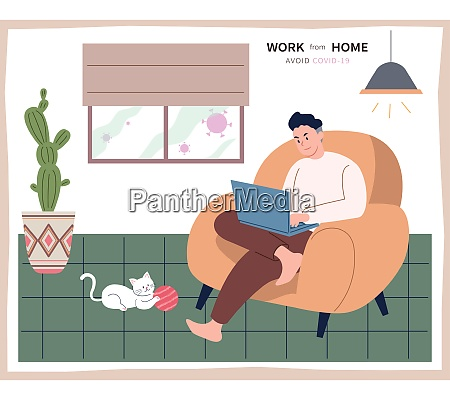 a man sitting on a cozy