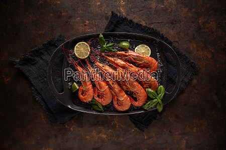 raw fresh prawns
