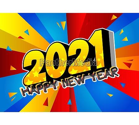 comic book 2021 happy new year