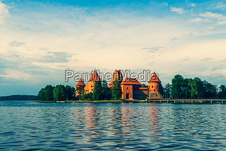 trakai island castle in lake galve