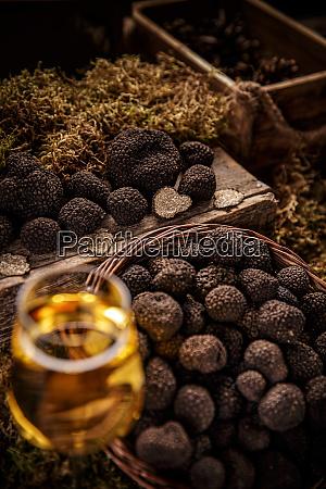 fresh whole black truffle
