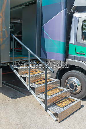 race trailer stairs