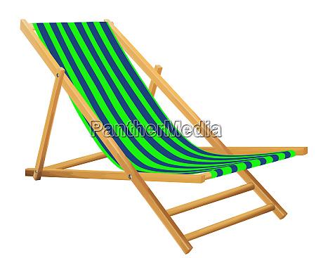 beach chair summer relax green illustration