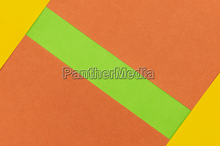 green orange and yellow coloured paper