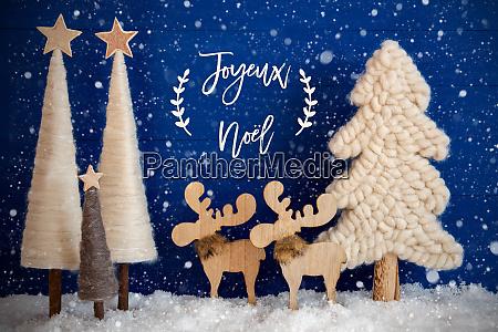 christmas tree moose snow joyeux neol