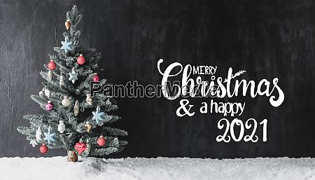 christmas tree snow colorful ball merry