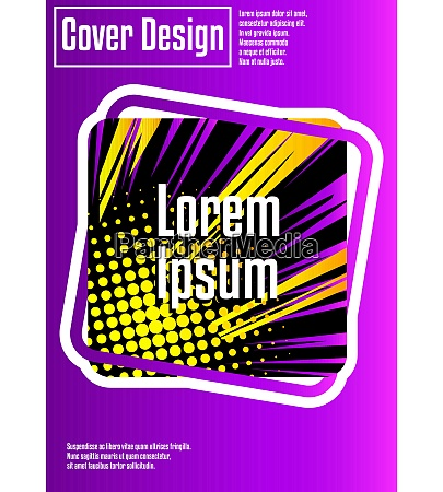 cover design template with comic book