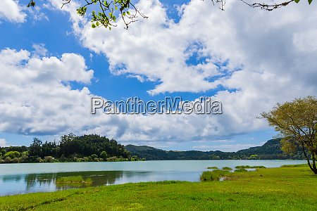 furnas lake in sao miguel island