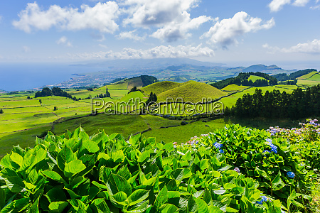 beautiful landscape in azores
