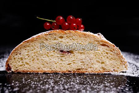 sweet cupcake in round bread shape