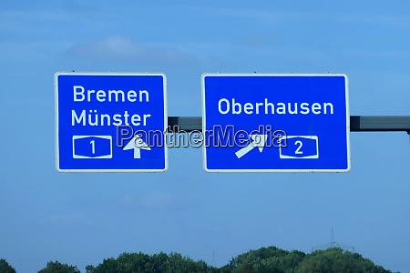 federal motorway exit bremen muenster oberhausen