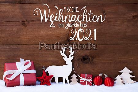 reindeer gift tree ball snow glueckliches