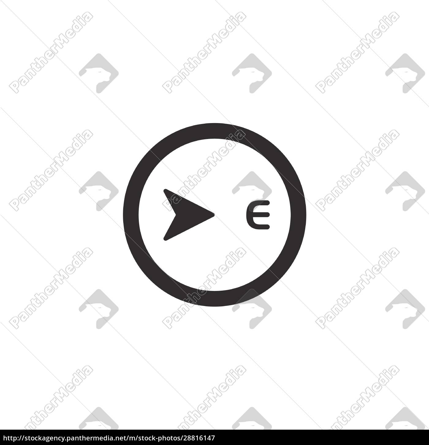 east, direction., isolated, compass, icon., weather - 28816147