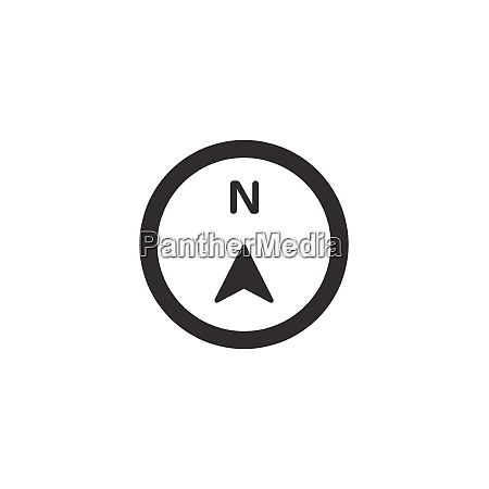 north, direction., isolated, compass, icon., weather - 28816148