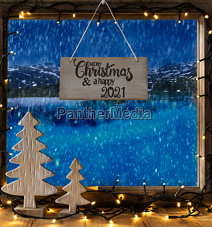 christmas tree window lake merry christmas