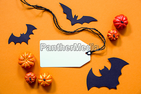 label with copy space halloween and