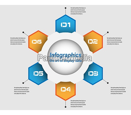 infographic design template idea to display