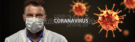young doctor against new coronavirus 2019