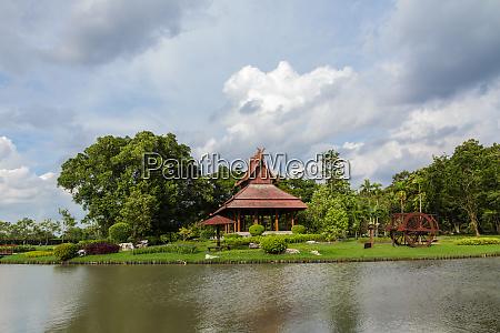 wooden pavilion thai
