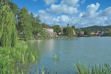 lake burgsee in health resort of