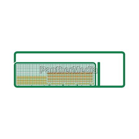 baseball reserve bench icon