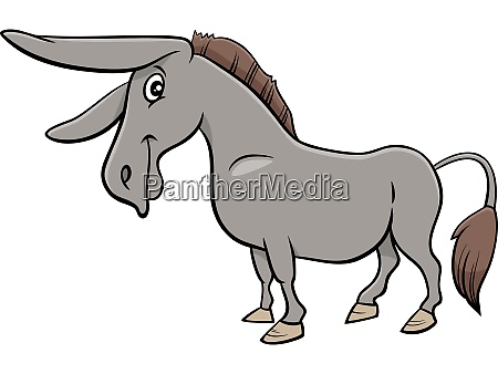 cartoon donkey farm animal character