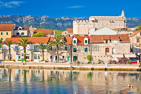 town of vrboska waterfront and fortress