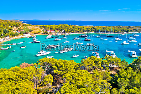 aerial view of palmizana sailing cove