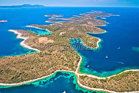 pakleni otoci yachting destination arcipelago aerial