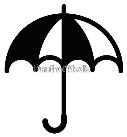 simple black and white umbrella icon