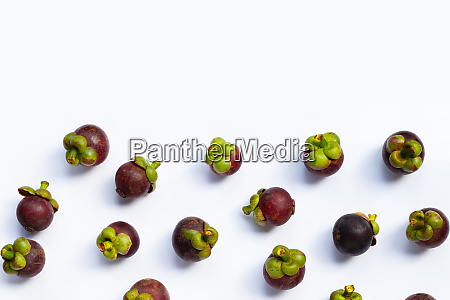 mangosteen on white background