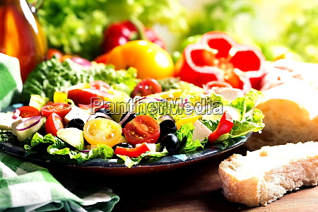 plate of greek salad