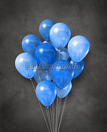 blue air balloons group on a