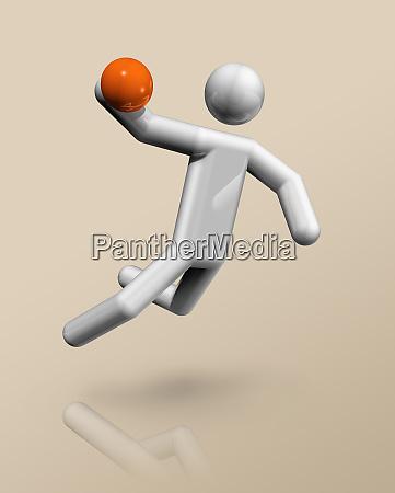 handball 3d icon olympic sports