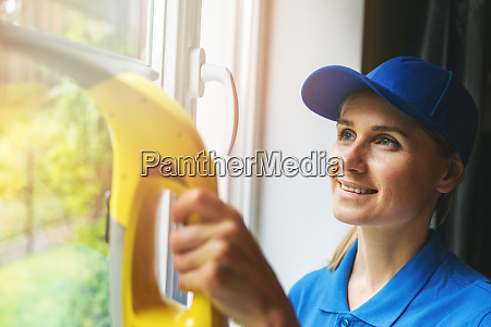 home cleaning service woman washing