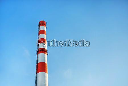 factory chimney blue sky