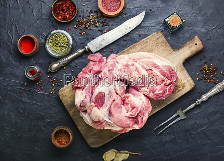 raw pork meat