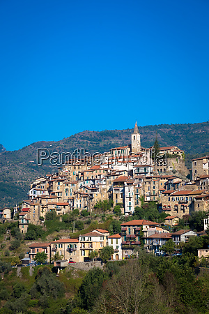 apricale italian old village in
