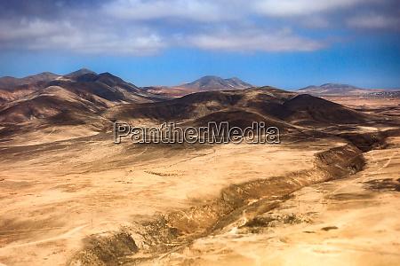 rough landscape of fuerteventura