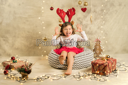 christmas studio shoot of a cute