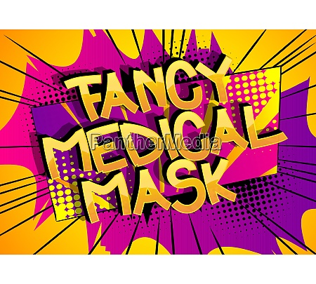 fancy, medical, mask, comic, book, style - 28824772