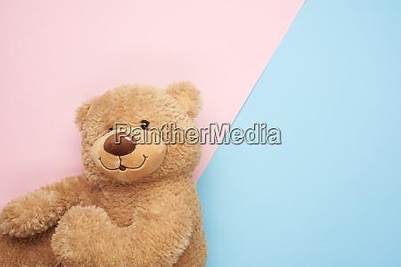 cute brown teddy bear on a
