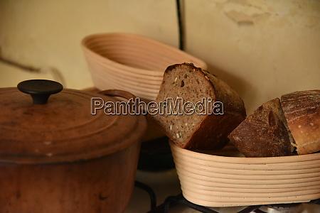 a fresh crusty loaf of homemade
