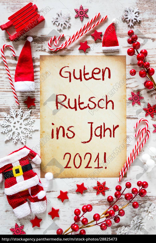bright, christmas, flat, lay, , guten, rutsch - 28825473