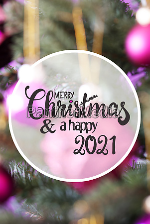 pink, ball, , blurry, chrismas, tree, , merry - 28825494