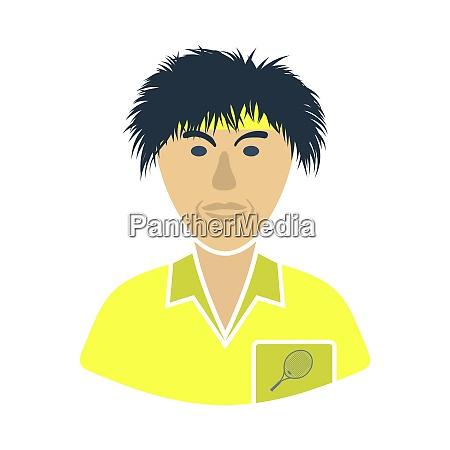 tennis man athlete head icon