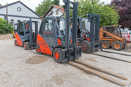 forklifts in yard