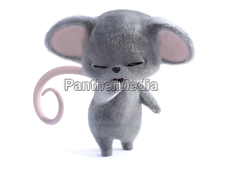 3d rendering of a cute sleepy