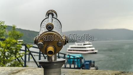 telescope on touristic destination