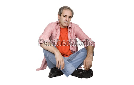 mature man seated